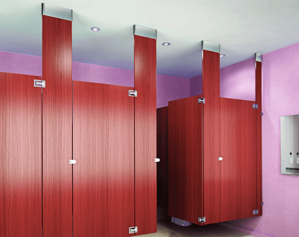 Toilet partition sales installation granite state for Bathroom stall partitions
