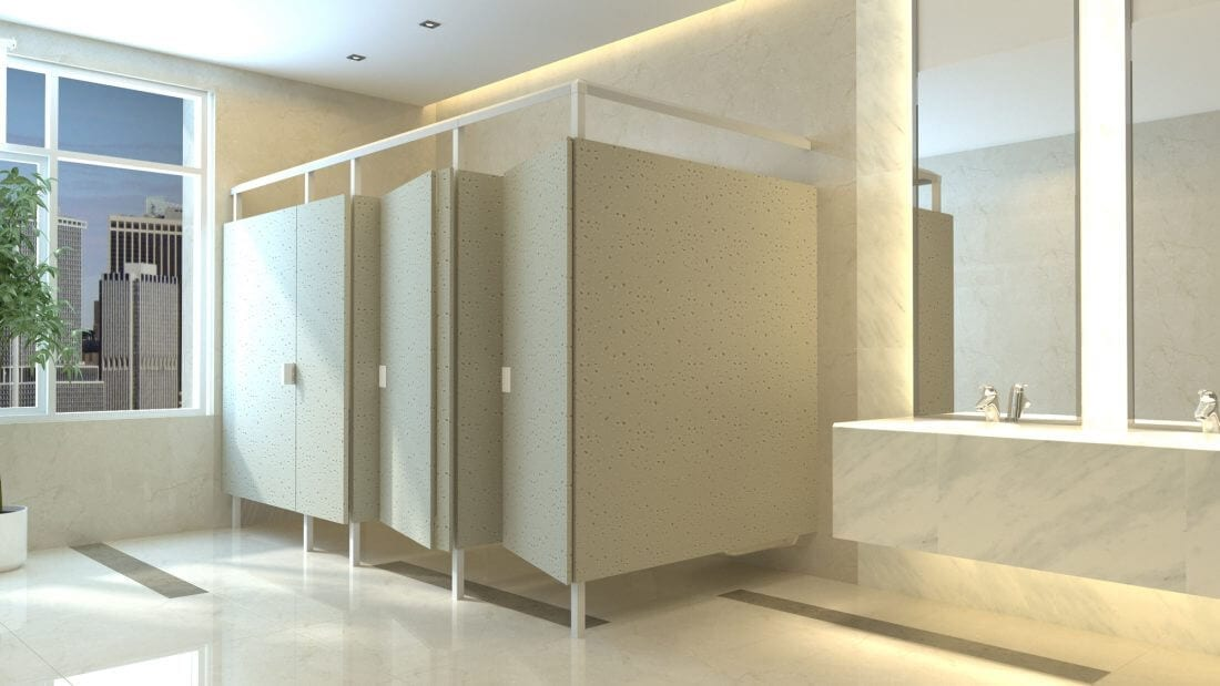 Eclipse Sandstone Toilet Partitions