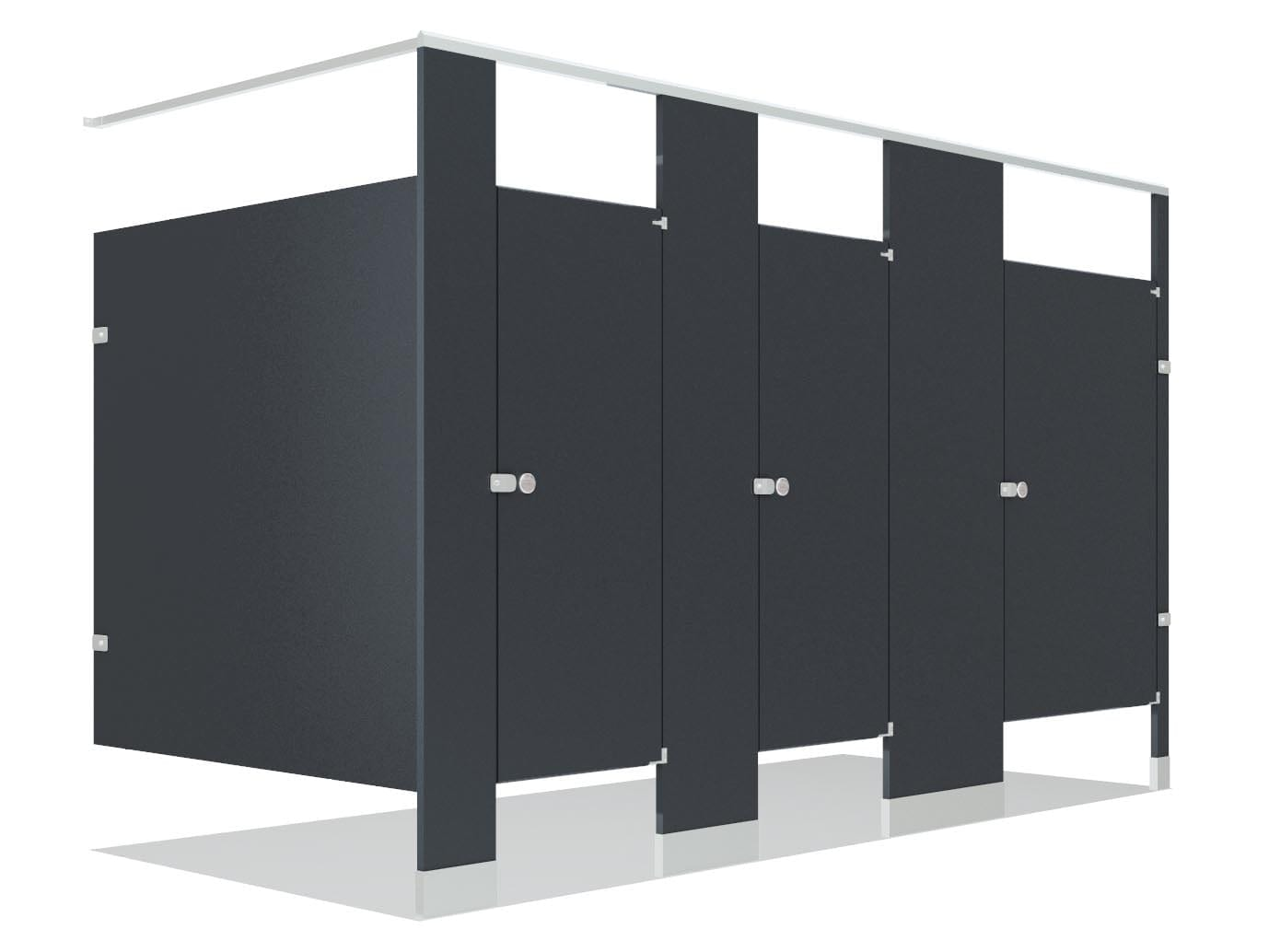 Black Toilet Partitions
