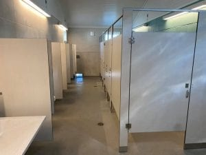 Toilet Partition Install Project
