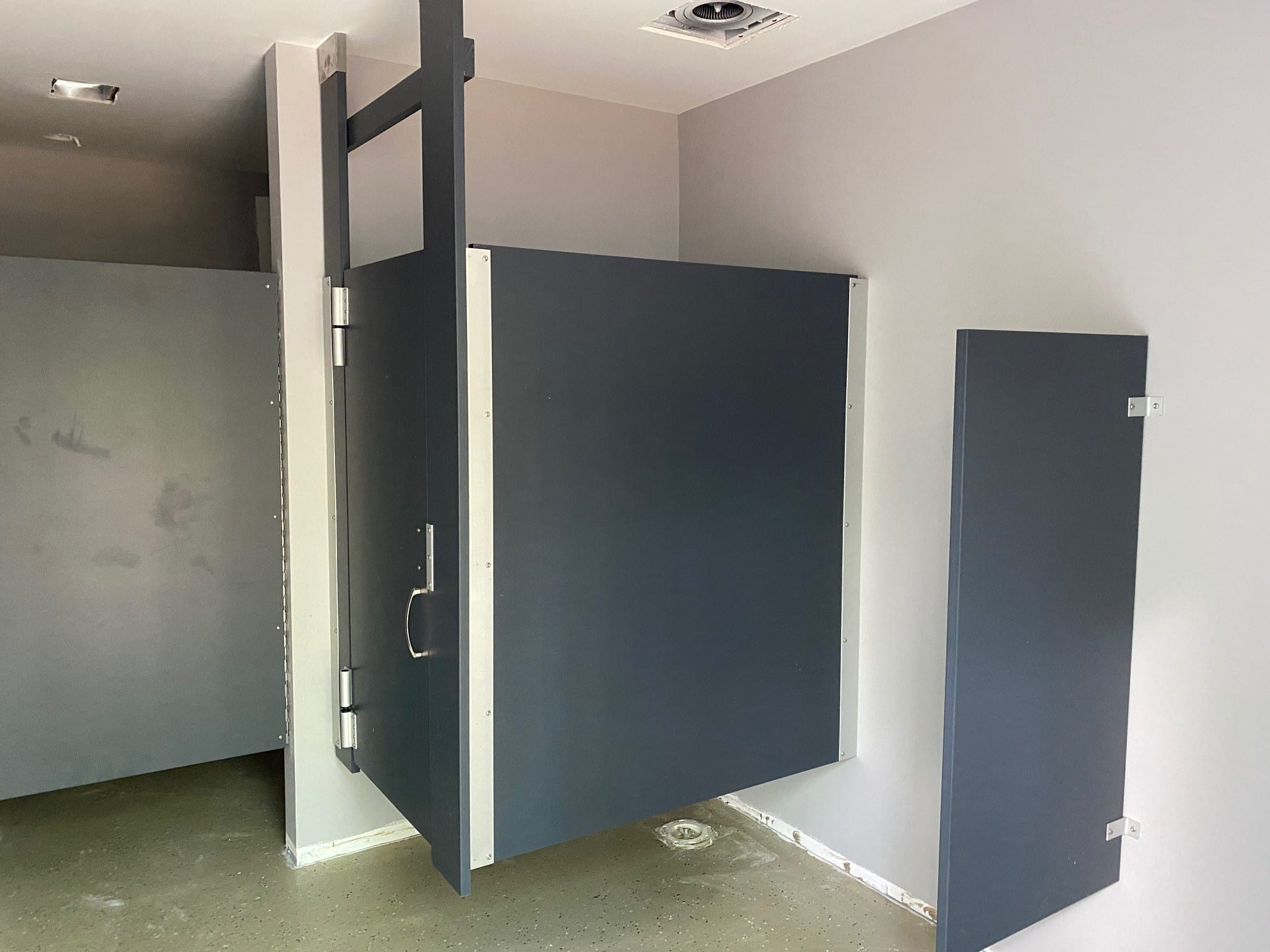 Toilet Partition Install