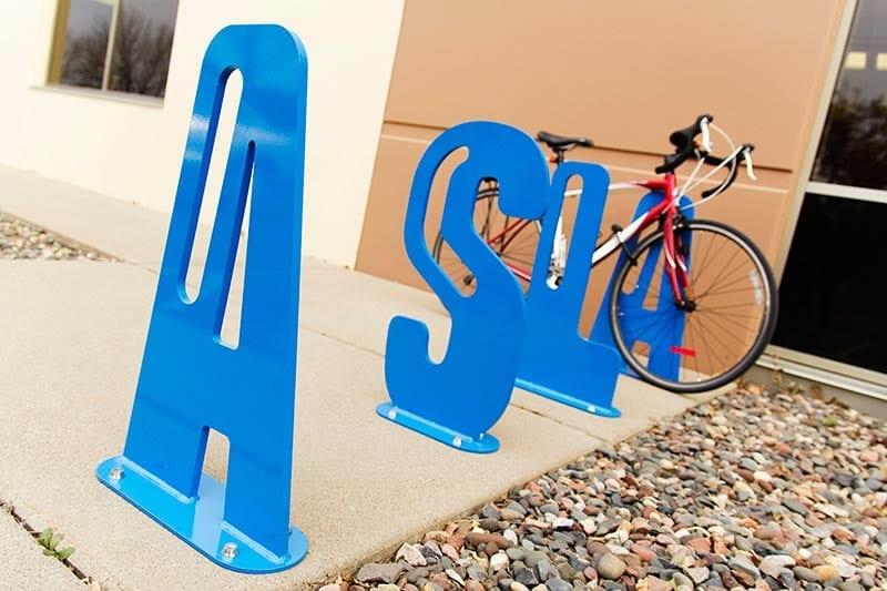 Letters Bike Racks
