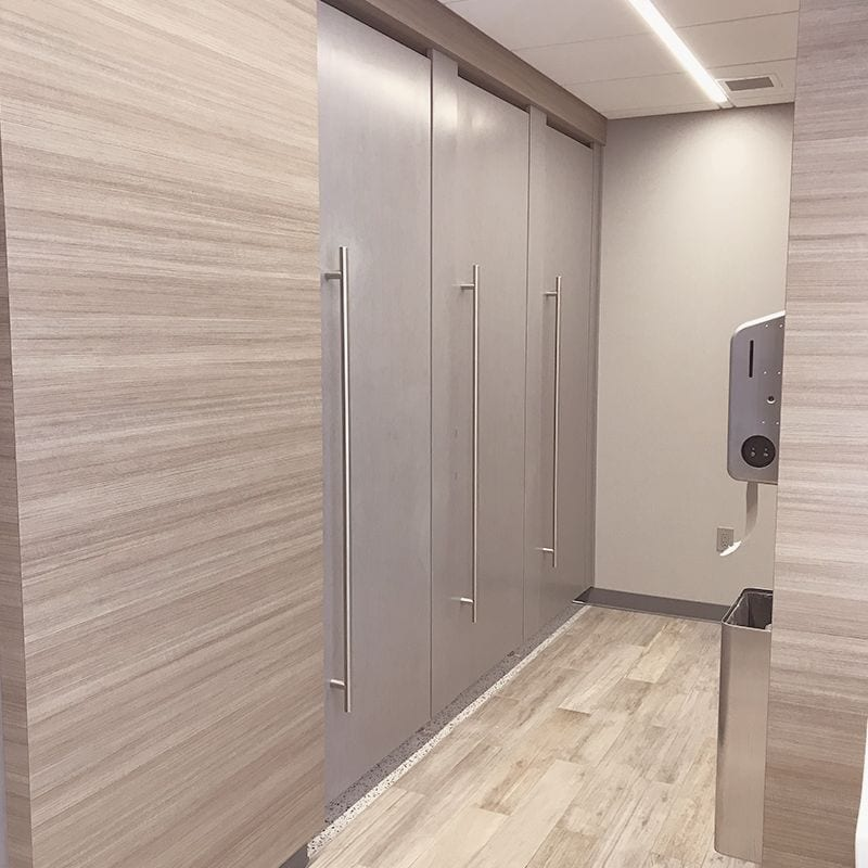 Privacy Plus Partitions with Corian Solid Surface