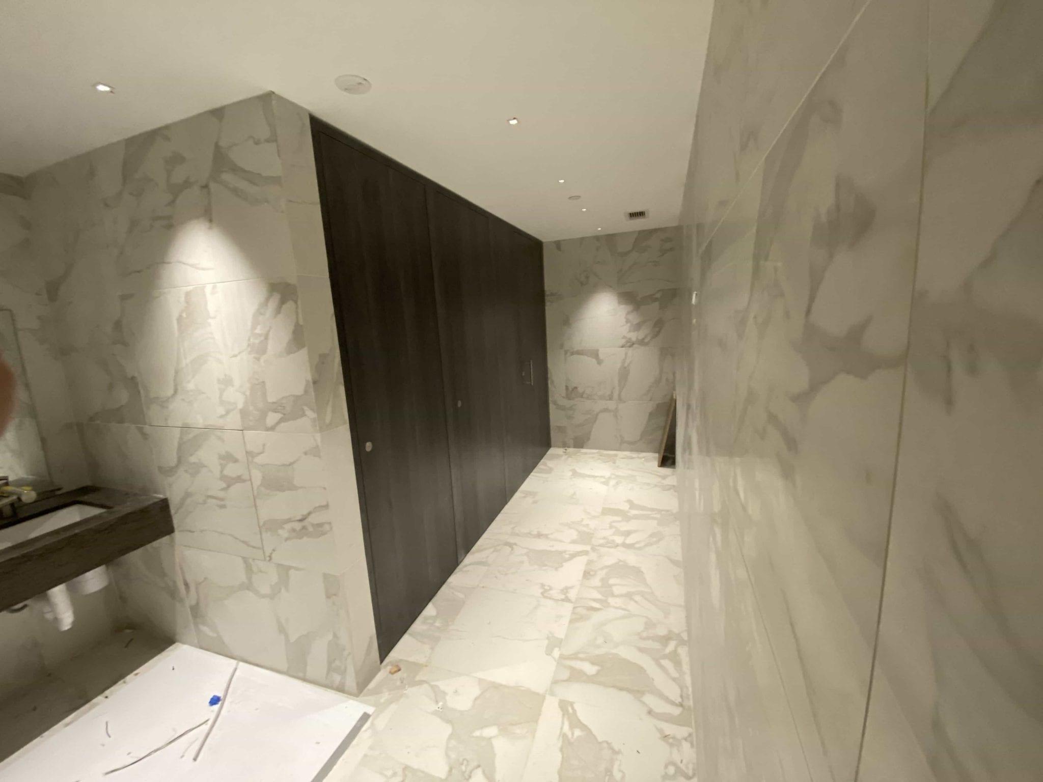 Thrislington Toilet partition install photo